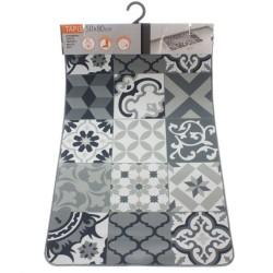 Boite 3 mouchoirs colorés à rayures larges 43 x 43 cm